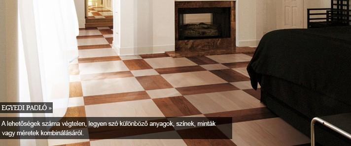 egyedi padló