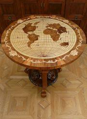 egyedi intarziás bútor, asztal