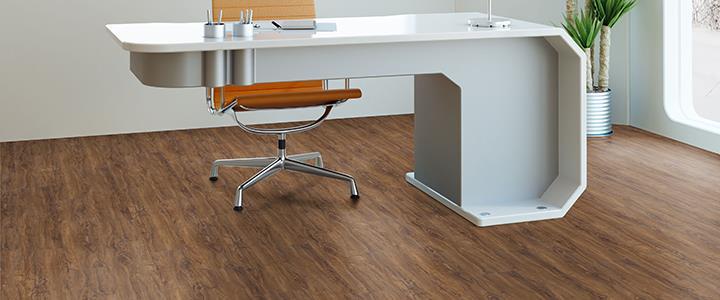 klikkes PVC padló, vinyl burkolat -dolgozószoba