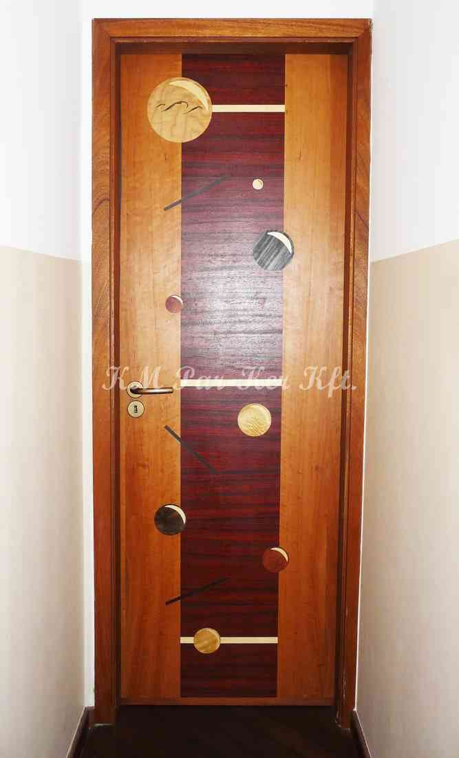 beltéri ajtó, nyílászáró 03, intarziás