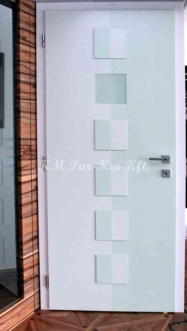 beltéri ajtó, nyílászáró 04, festett MDF