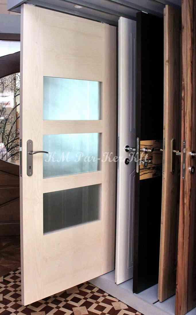beltéri ajtó, nyílászáró 10, üvegléc nélküli üvegajtó