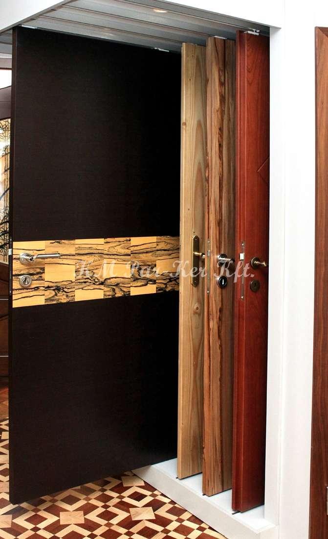 beltéri ajtó, nyílászáró 13, ébenfa furnéros
