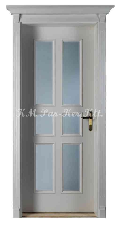 beltéri ajtó, nyílászáró 17, juhar keretes, festett, üveggel