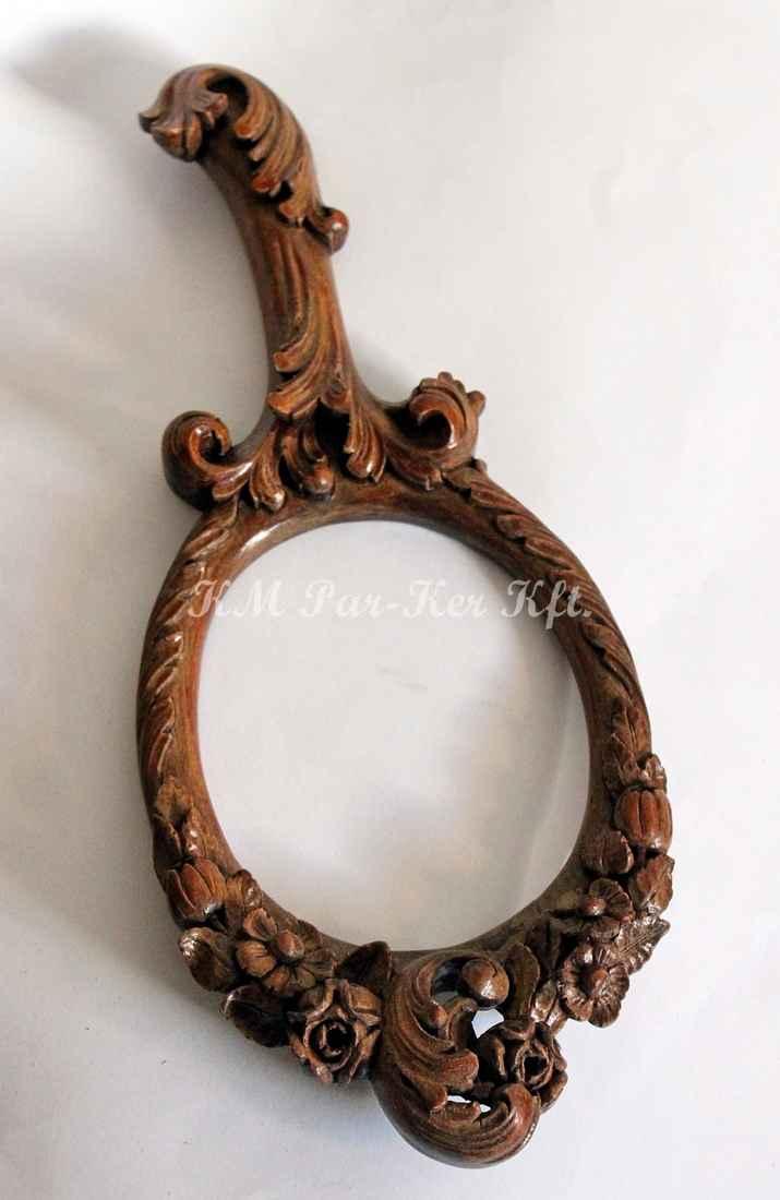 Geschnitzte Möbel 16, Barokk Handspiegel, Schminkspiegel Rahmen