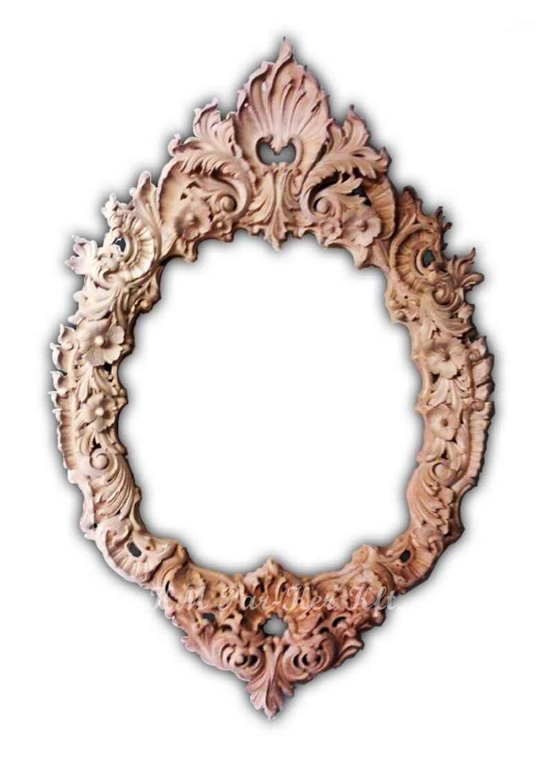 Handgeschnitzte Möbel 31, Spiegelrahmen