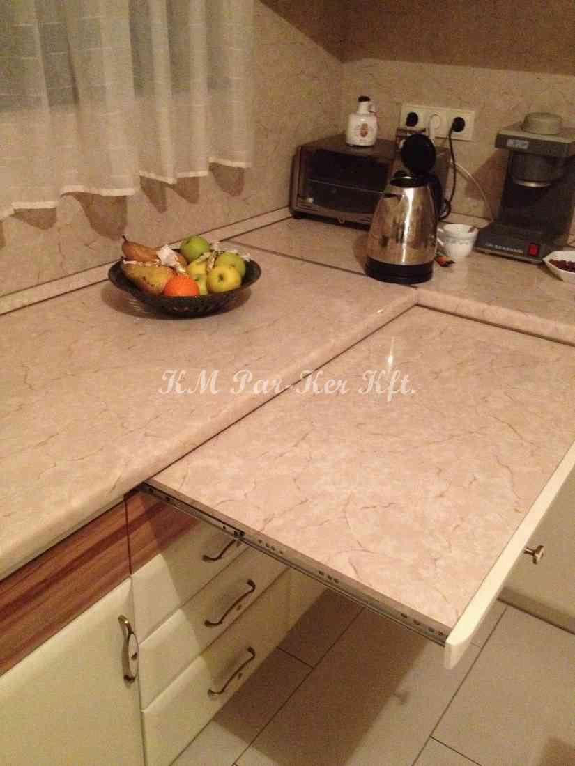 Individuelle Möbel 73, Verlengerter Arbeitsplatte in der Küche