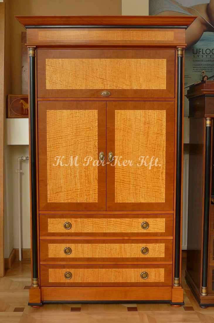 Individuelle Möbel Herstellung 74, Sekreter, Vitrine, Kirsche