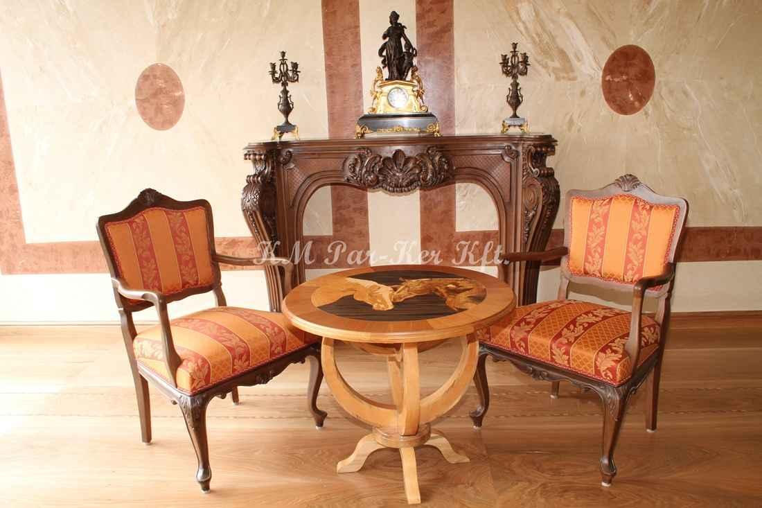 Individuelle Möbel Herstellung 77, Stuhl mit Armlehnen