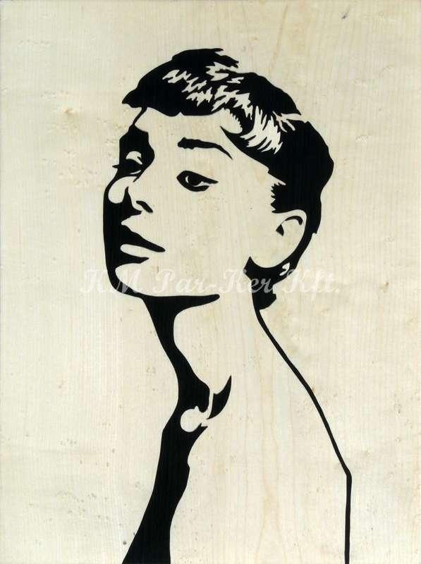 Intarsien Bild -Audrey Hepburn