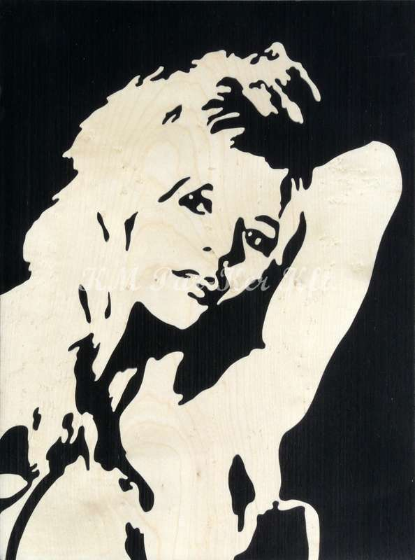 Intarsien Bild -Brigitte Bardot