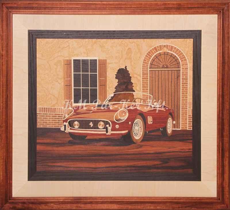 Intarsien Bild -Ferrari