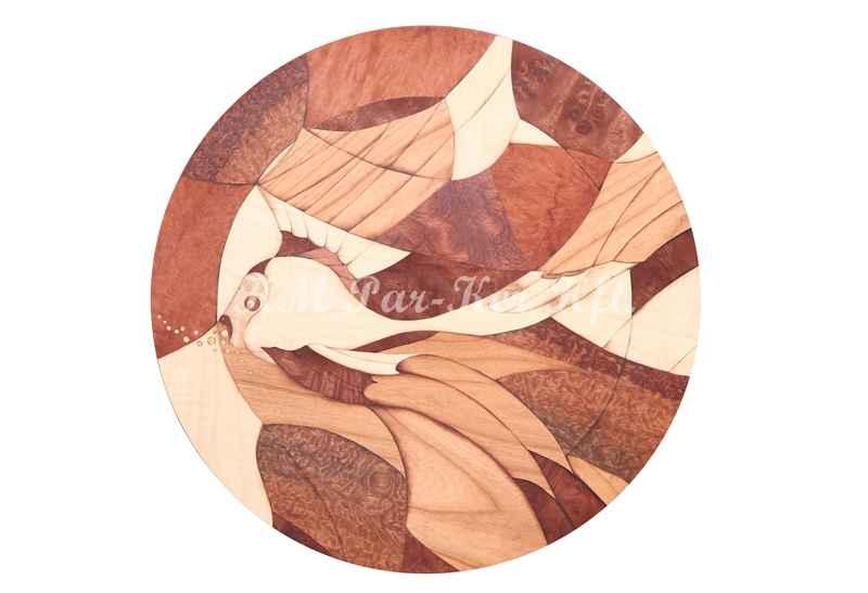 Intarsien Bild -Fisch
