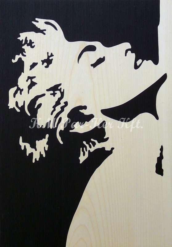 Intarsien Bild -Madonna