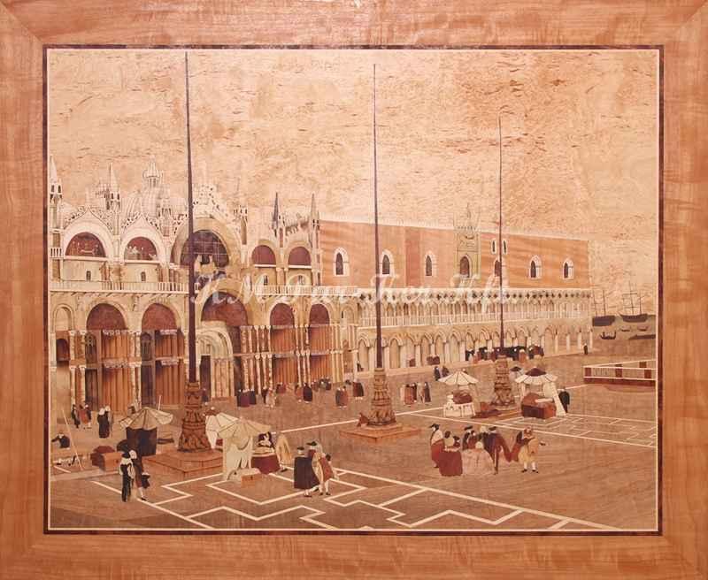 Intarsien Bild -Platz Heiliger Mark