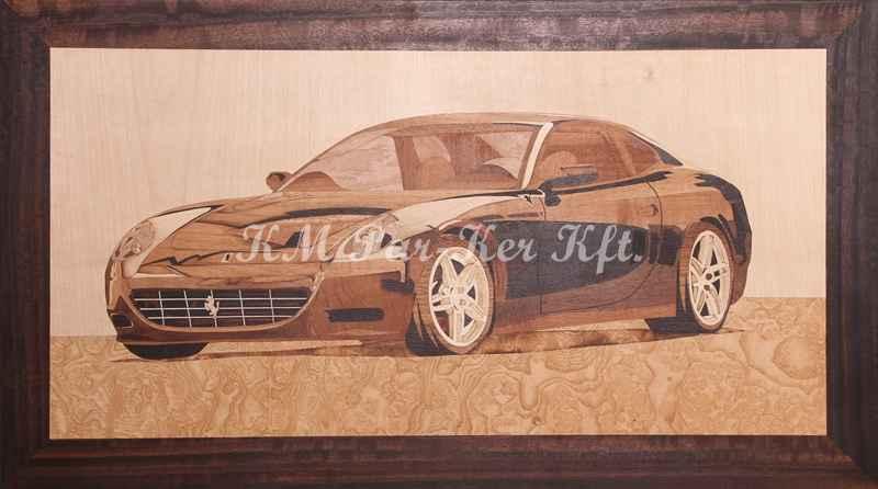 Intarsien Bild -Porsche