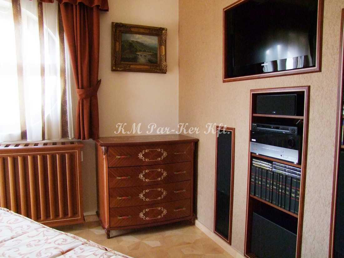 Intarsien Möbel 49, Wandschrank, Kommode