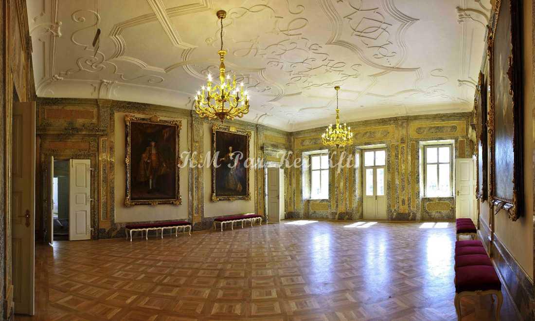Intarsien Parkett, Tafelparkett 12, Barokkschloß, Hajós