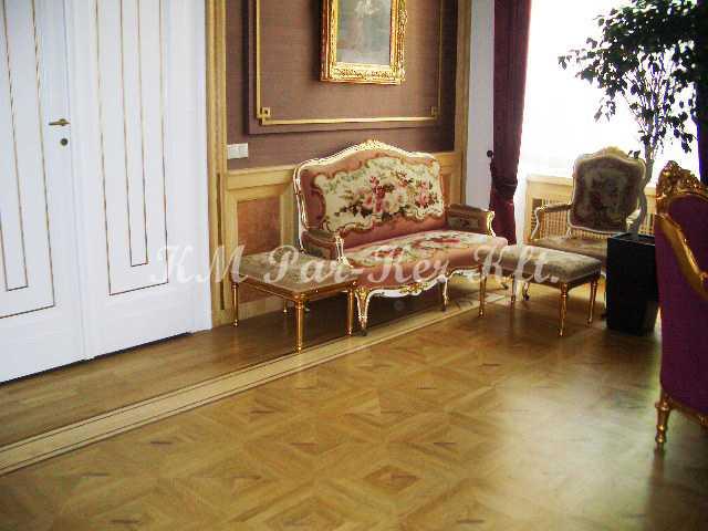 Intarsien Parkett, Tafelparkett 24, Bischofsamt, Szeged