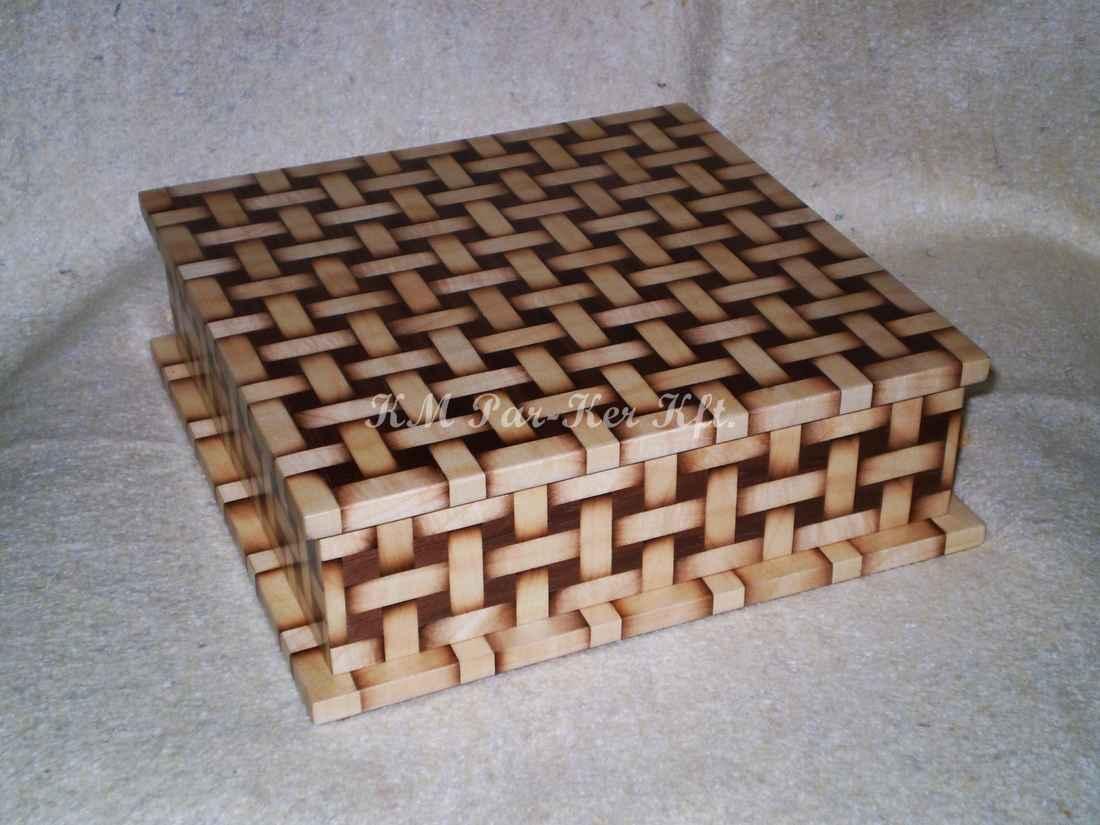 Intarsien Schachtel 15, Geflochten