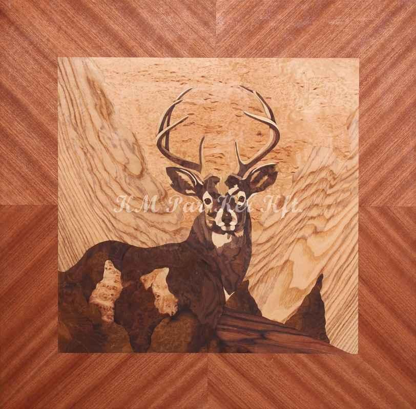 Intarsienkunst -Kein Wunder, das es ein Hirshc ist