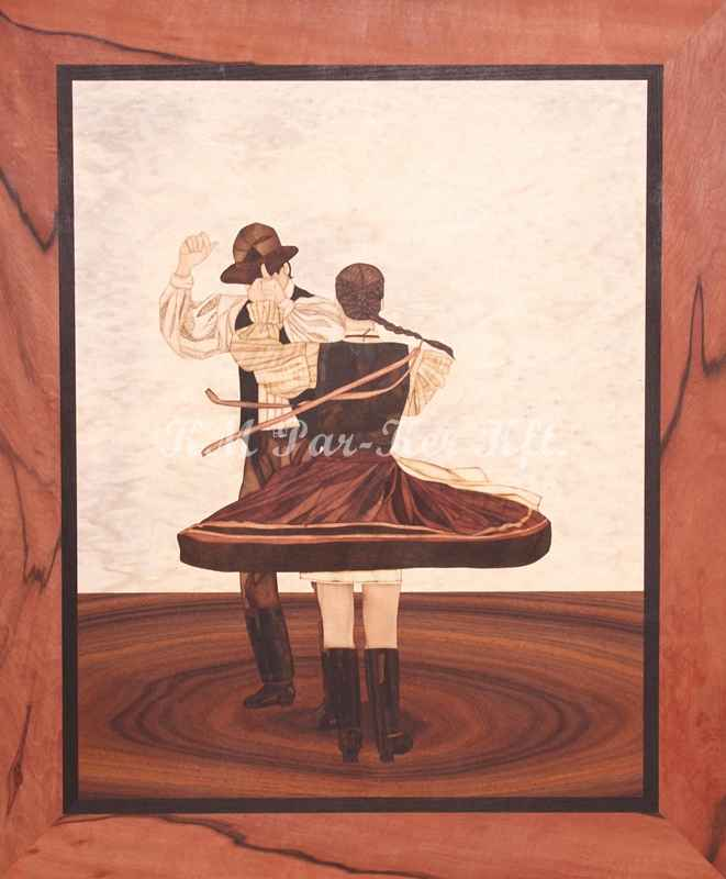 Intarsienkunst -Tanz aus Vajdaszentivány