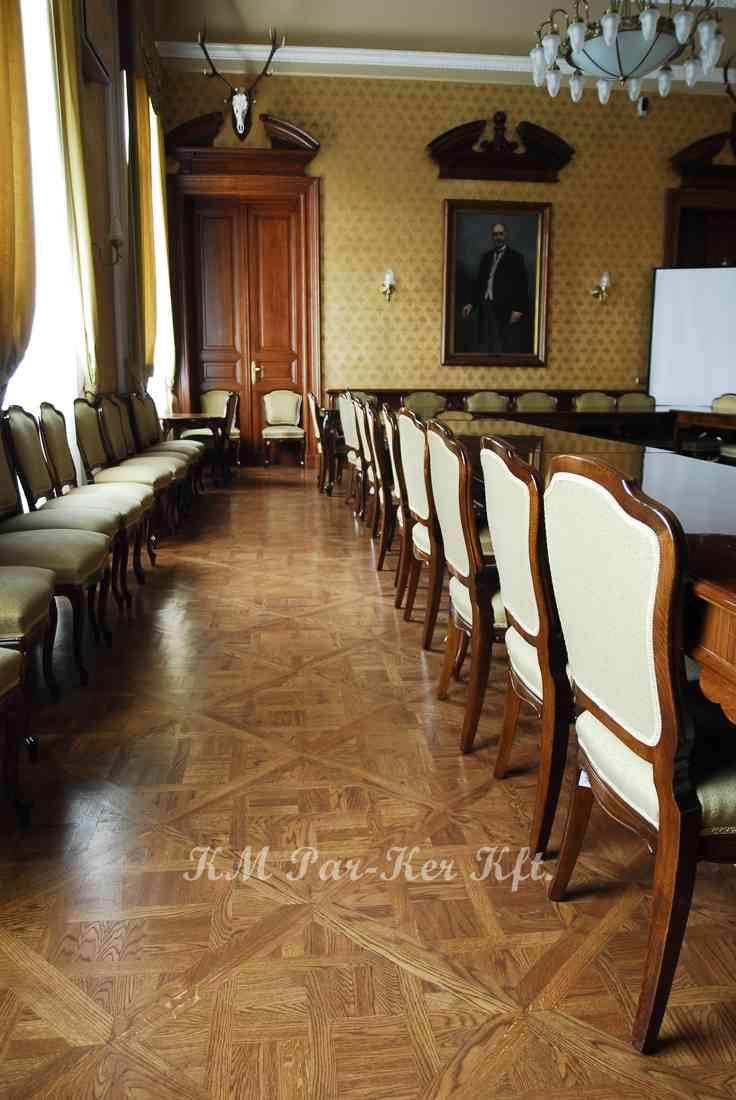 Tafelparkett, Intarsien Parkett 01, Mending (Eiche), Wirtschaftsministerium, Budapest
