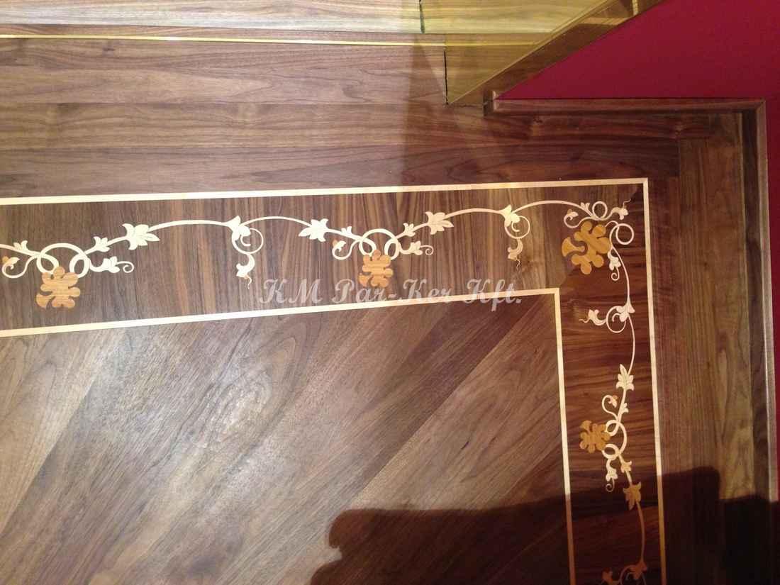Tafelparkett, Intarsien Parkett Bordüre 13, Barock Muster