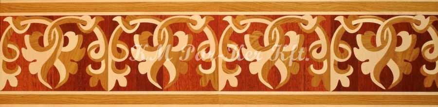Tafelparkett, Intarsien Parkett Bordüre 12