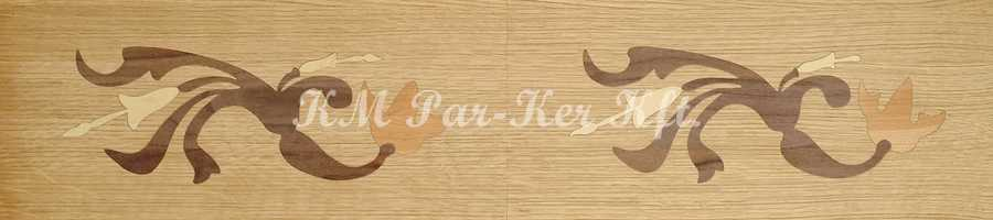 Tafelparkett, Intarsien Parkett Bordüre 15