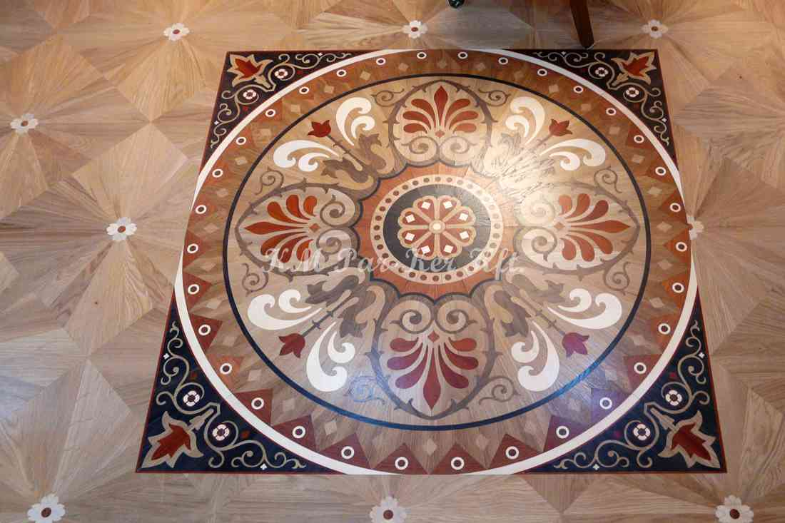 Tafelparkett, Intarsien Parkett Medaillon 19, Aladdin