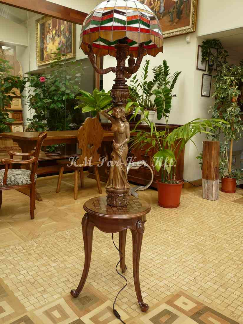 carved furniture 33, standing reading lamp