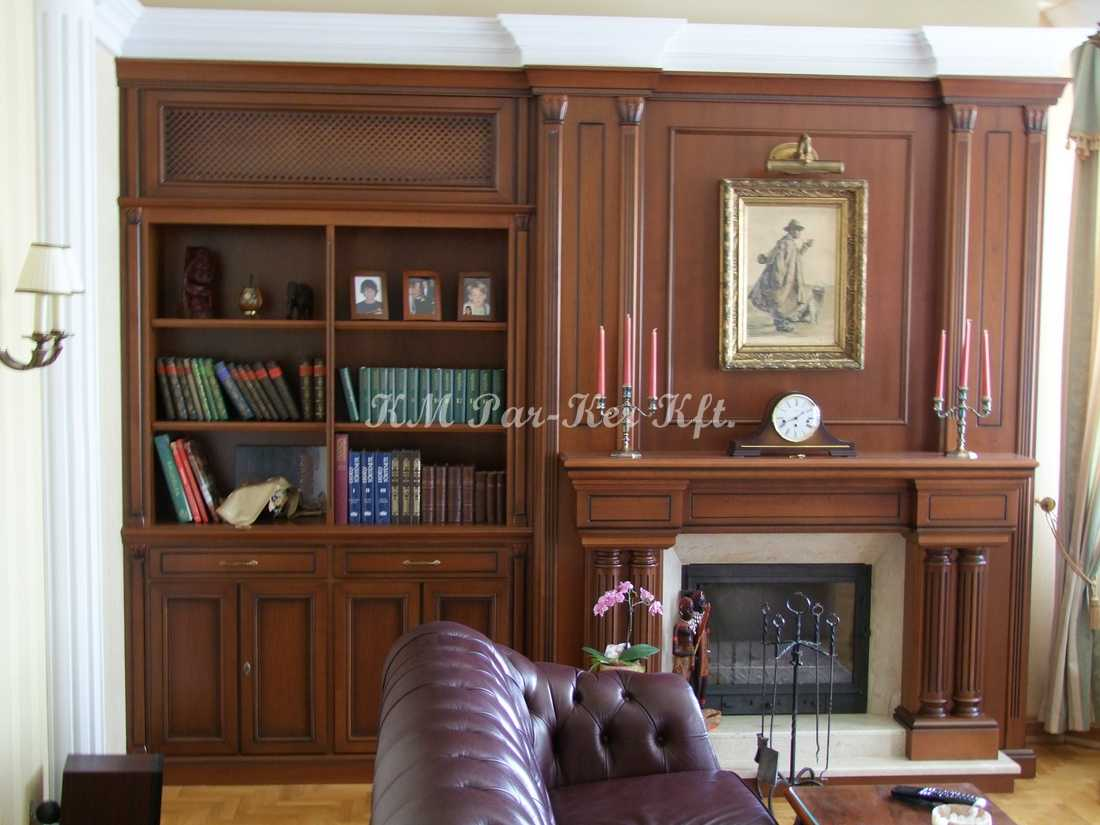 custom furniture 20, cupboard, fireplace, living room