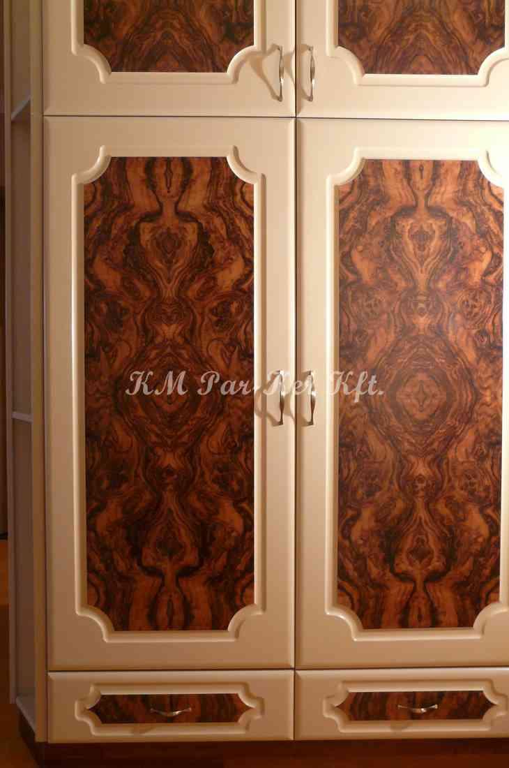 custom made furniture 44, hall room, walnut veneer