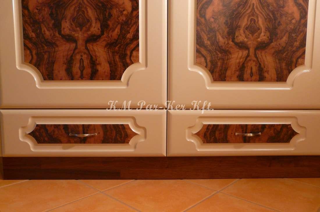 custom made furniture 45, hall room, walnut veneer