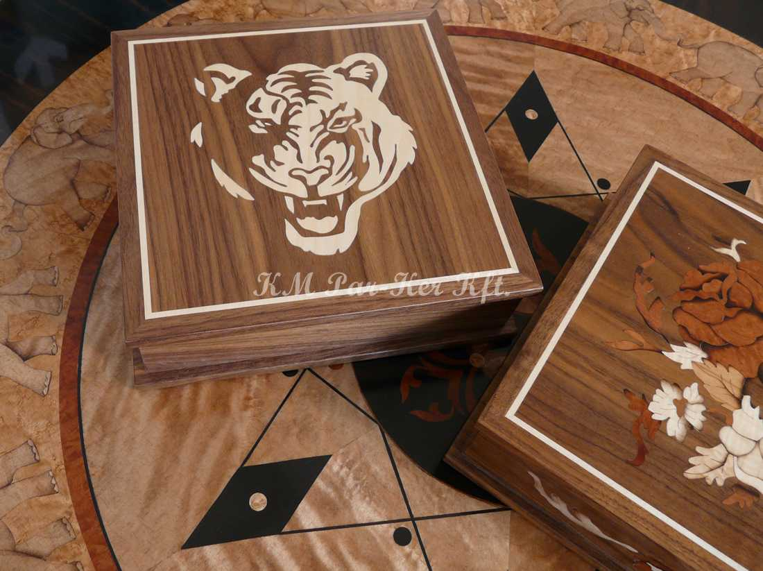 marquetry box 04, Tiger