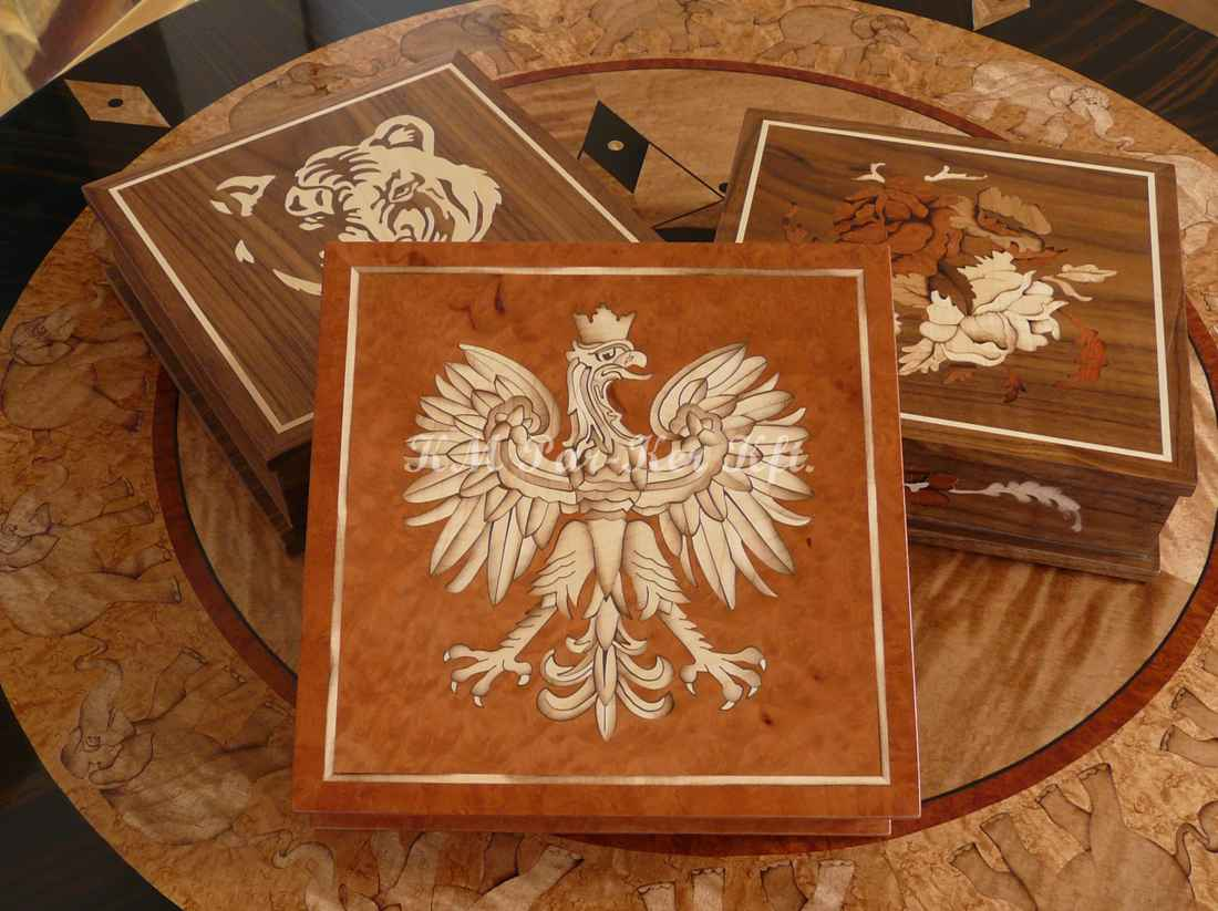 marquetry box 05, Eagle