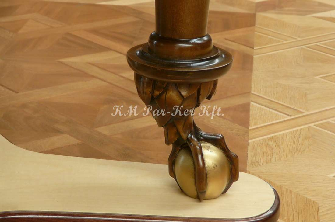 marquetry furniture 79, carved eagle foot