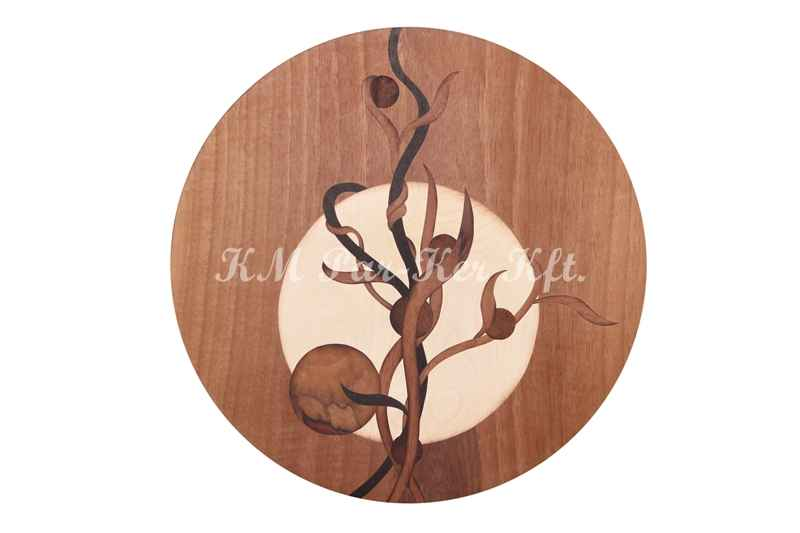 marquetry picture -Image of the Moon