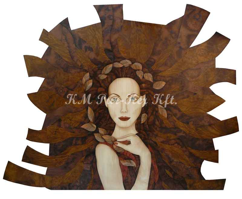 marquetry picture -Message from nature