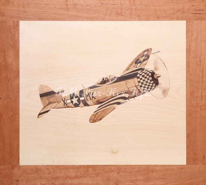 marquetry picture -P-39 Aircraft
