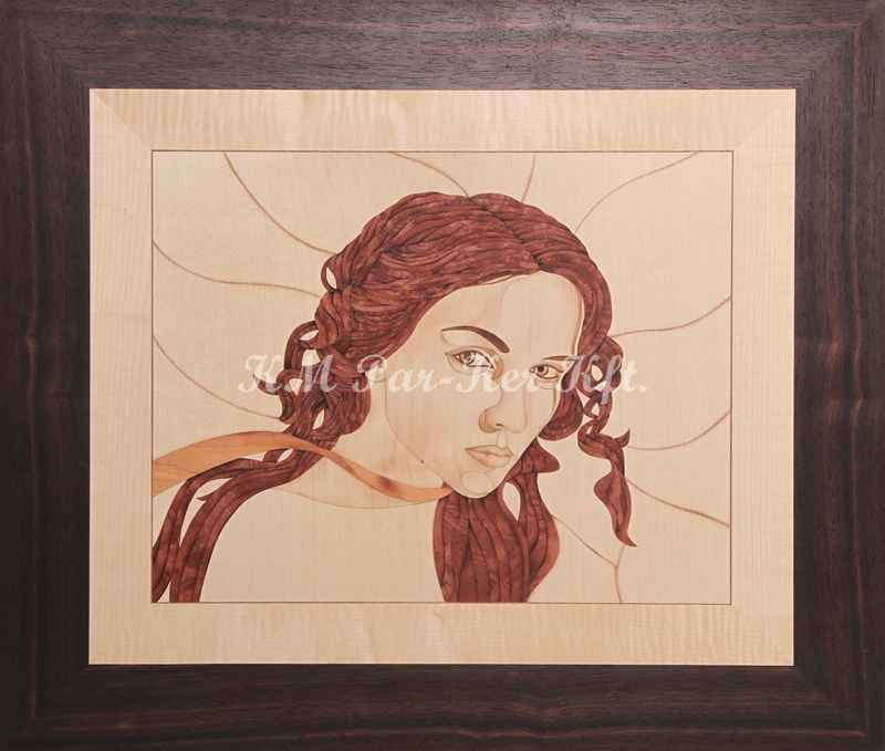 marquetry picture -Red defiance