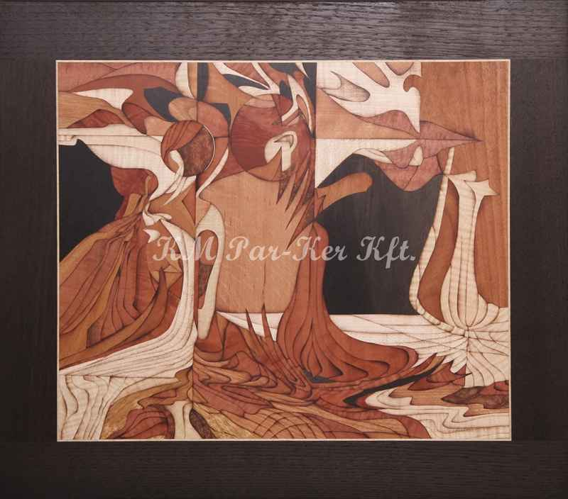 marquetry picture -Reflection
