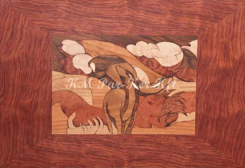 marquetry picture -Roes