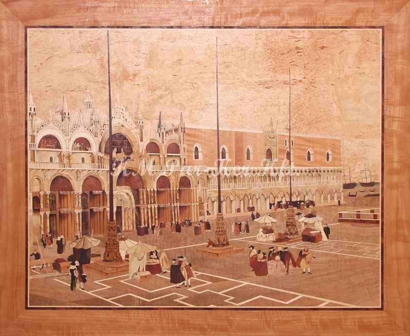 marquetry picture -Saint Mark Square