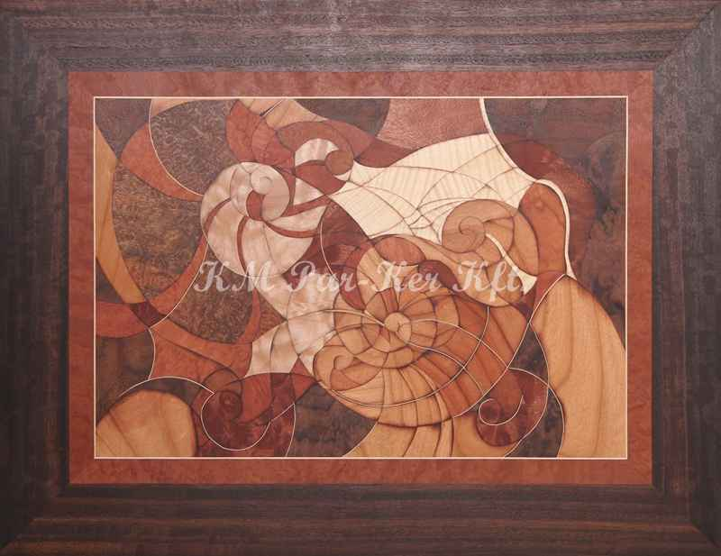 marquetry picture -Snails