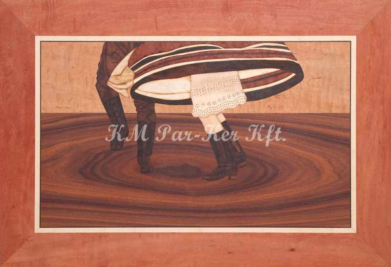 marquetry picture -Turn around -Dance of Mezőség