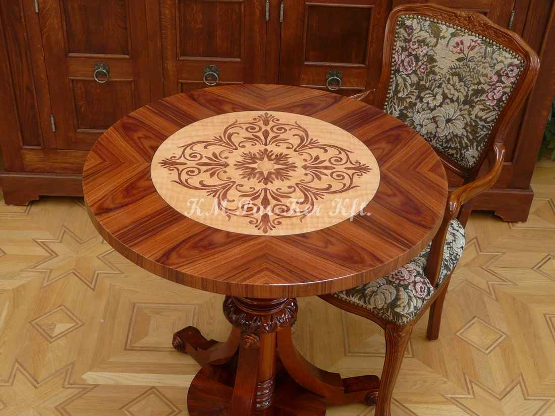 marquetry table, Sun