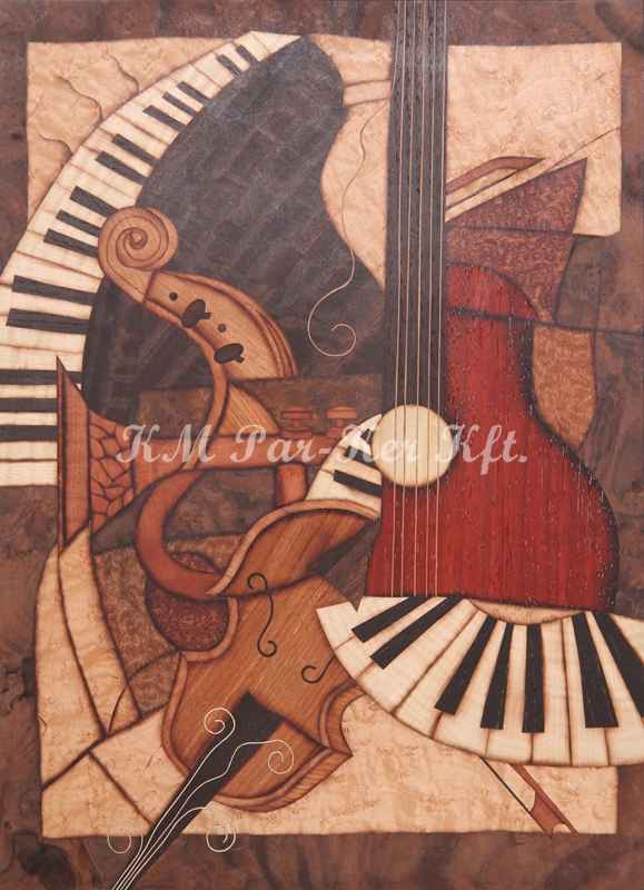 wood inlay art -After the concert