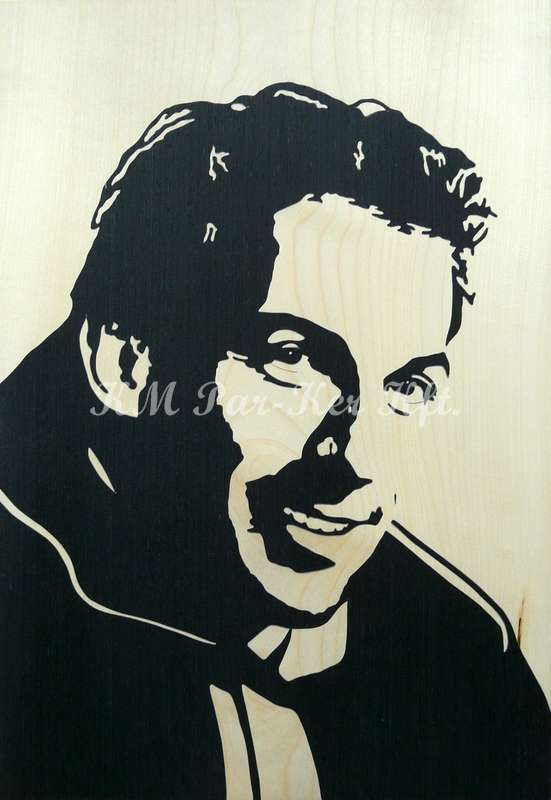 wood inlay art -Alessandro Del Piero